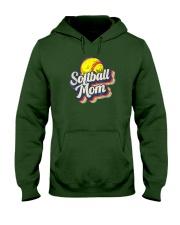 Retro Softball Mom Funny Vintage Softball Mom Hooded Sweatshirt thumbnail