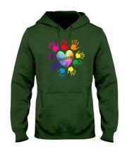 Educator Heart Colorful hands Teacher love every Hooded Sweatshirt thumbnail