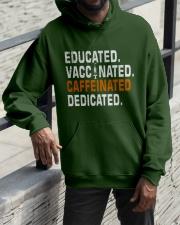 Educated Vaccinated Caffeinated Dedicated Hooded Sweatshirt apparel-hooded-sweatshirt-lifestyle-front-11