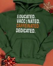 Educated Vaccinated Caffeinated Dedicated Hooded Sweatshirt apparel-hooded-sweatshirt-lifestyle-front-65