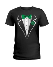 Irish Tuxedo Costume Ladies T-Shirt thumbnail