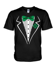 Irish Tuxedo Costume V-Neck T-Shirt tile
