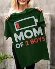 Mom of 2 Boys Shirt Gift from Son Mothers Day Classic T-Shirt apparel-classic-tshirt-lifestyle-front-117