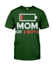 Mom of 2 Boys Shirt Gift from Son Mothers Day Classic T-Shirt front