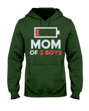 Mom of 2 Boys Shirt Gift from Son Mothers Day Hooded Sweatshirt thumbnail