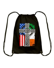Irish American Flag Drawstring Bag thumbnail