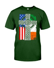 Irish American Flag Classic T-Shirt front