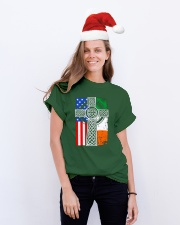 Irish American Flag Classic T-Shirt lifestyle-holiday-crewneck-front-1