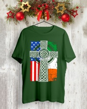 Irish American Flag Classic T-Shirt lifestyle-holiday-crewneck-front-2