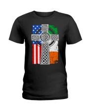 Irish American Flag Ladies T-Shirt thumbnail