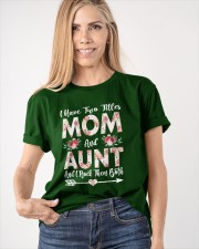 I Have Two Titles Mom And Aunt Flowers Classic T-Shirt apparel-classic-tshirt-lifestyle-front-100