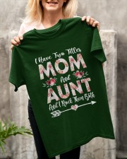 I Have Two Titles Mom And Aunt Flowers Classic T-Shirt apparel-classic-tshirt-lifestyle-front-117