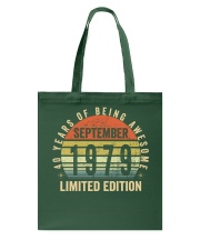 Born September 1979 Limited Edition Bday Gifts 40t Tote Bag thumbnail