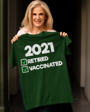 I'm Retired and Vaccinated Classic T-Shirt apparel-classic-tshirt-lifestyle-front-118