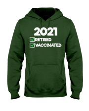 I'm Retired and Vaccinated Hooded Sweatshirt thumbnail