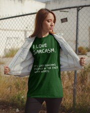 I Love Sarcasm Classic T-Shirt apparel-classic-tshirt-lifestyle-07
