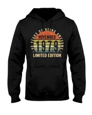 Born November 1979 Limited Edition Bday Gifts 40t Hooded Sweatshirt front