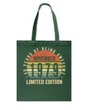 Born November 1979 Limited Edition Bday Gifts 40t Tote Bag tile
