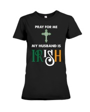 My Husband is Irish Premium Fit Ladies Tee thumbnail