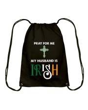 My Husband is Irish Drawstring Bag tile