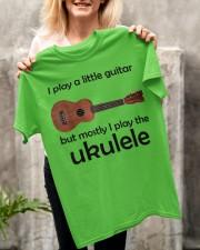 Funny Ukulele Pun Classic T-Shirt apparel-classic-tshirt-lifestyle-front-117