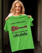 Funny Ukulele Pun Classic T-Shirt apparel-classic-tshirt-lifestyle-front-118