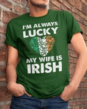 Lucky My Wife Is Irish Classic T-Shirt apparel-classic-tshirt-lifestyle-26