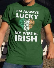 Lucky My Wife Is Irish Classic T-Shirt apparel-classic-tshirt-lifestyle-28