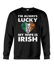 Lucky My Wife Is Irish Crewneck Sweatshirt thumbnail