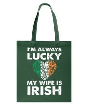 Lucky My Wife Is Irish Tote Bag thumbnail
