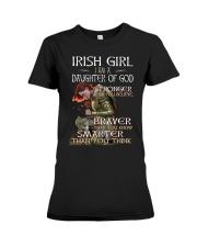 Irish Girls Stronger Braver Premium Fit Ladies Tee front