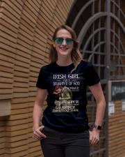 Irish Girls Stronger Braver Premium Fit Ladies Tee lifestyle-women-crewneck-front-2