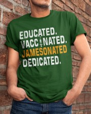 Educated Vaccinated Jamesonated Dedicated Classic T-Shirt apparel-classic-tshirt-lifestyle-26