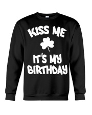 Kiss Me It's My Birthday Crewneck Sweatshirt thumbnail