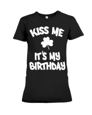 Kiss Me It's My Birthday Premium Fit Ladies Tee tile