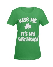 Kiss Me It's My Birthday Ladies T-Shirt women-premium-crewneck-shirt-front
