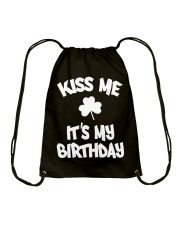 Kiss Me It's My Birthday Drawstring Bag thumbnail
