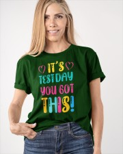 It's Test Day You Got This Funny Teacher Student Classic T-Shirt apparel-classic-tshirt-lifestyle-front-100