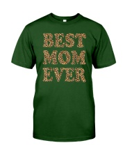Best Mom Ever Leopard Plaid Mother's Day Mama Classic T-Shirt front