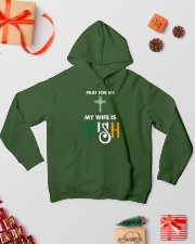 My wife is Irish Hooded Sweatshirt lifestyle-holiday-hoodie-front-2