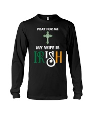 My wife is Irish Long Sleeve Tee tile