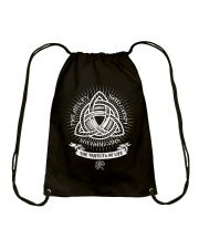 Trifecta of life Drawstring Bag tile