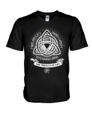 Trifecta of life V-Neck T-Shirt thumbnail
