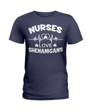 Irish Nurse Safety First Drink With A Nurse Ladies T-Shirt thumbnail