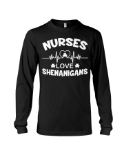 Irish Nurse Safety First Drink With A Nurse Long Sleeve Tee thumbnail