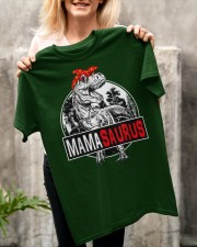 Mothers Day Mamasaurus T rex Dinosaur Funny Mama Classic T-Shirt apparel-classic-tshirt-lifestyle-front-117