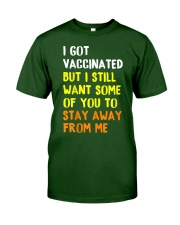 Got Vaccinated Funny Vaccine Humor Joke Social Classic T-Shirt tile