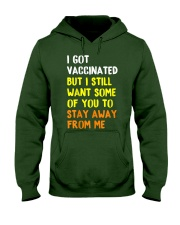 Got Vaccinated Funny Vaccine Humor Joke Social Hooded Sweatshirt tile