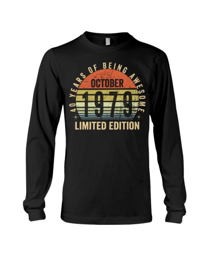 Born October 1979 Limited Edition Bday Gifts 40t