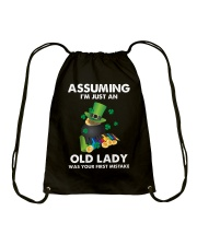 Assuming I'm Just an Old Lady Your First Mistake Drawstring Bag thumbnail